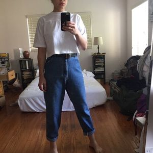 Vintage lee high waisted mom denim jeans boyfriend